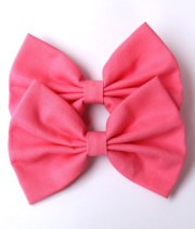 kenzie hair bow bright pink