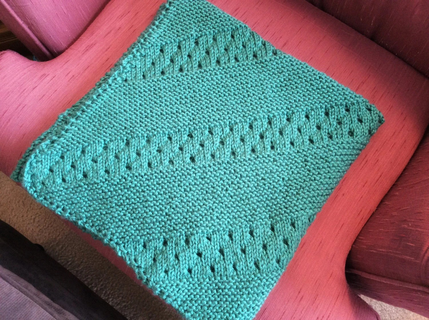 wheelchair blanket garelick boat chairs small baby crocheted in jade green stroller lap