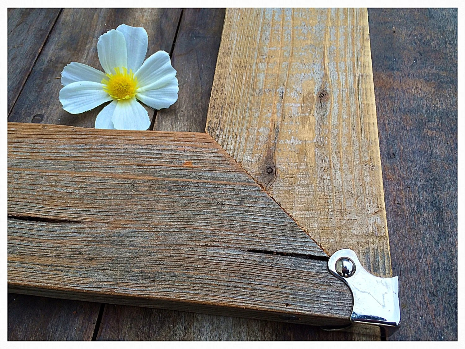 11x14 Rustic Barnwood Frame & Antique Silver By