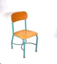 Vintage Wood School Chair Metal Small by oldgoatandhorse ...