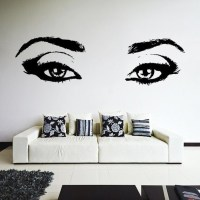 Vinyl Wall Decal Realistic Womens Eyes Silhouette / Sexy Teens