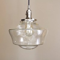 Schoolhouse lighting with 12 clear schoolhouse glass