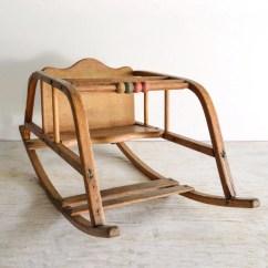 Antique Child Rocking Chair Up Bowery Baby Rocker Oak