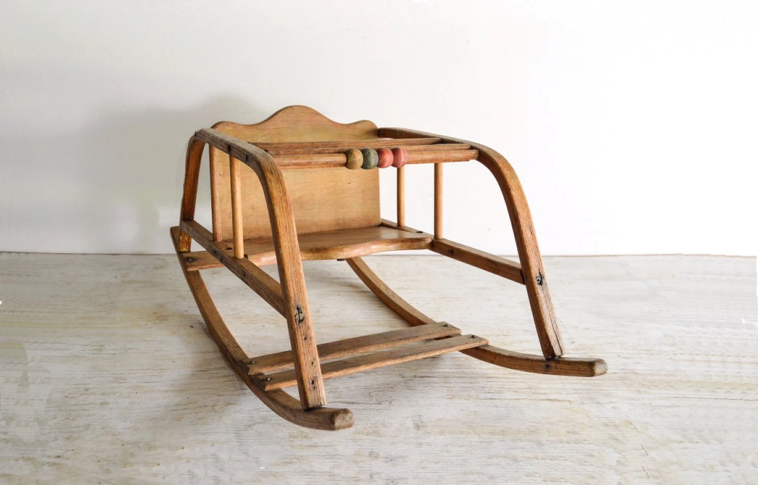 Baby Chair Baby Rocking Chair Baby Rocker Antique Baby Chair Oak