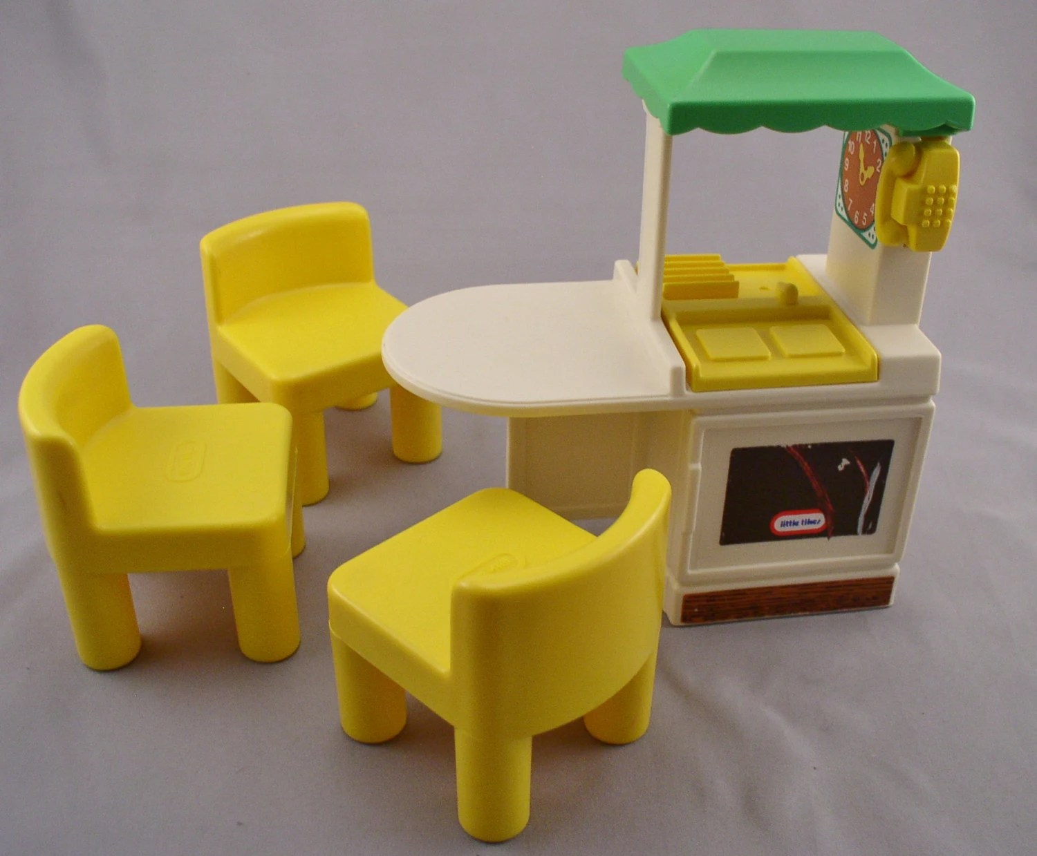 little tikes chairs diy lawn chair cushions kitchen and 3 dollhouse size 4 pieces