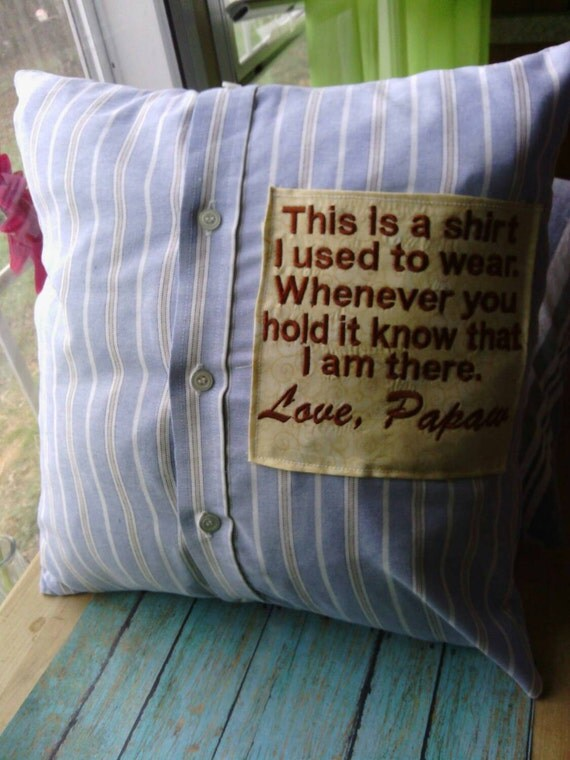 Memorial grief pillow Memory pillow pillow made from by