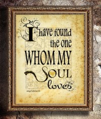 I Have Found the One Whom My Soul Loves Wall Art Quote