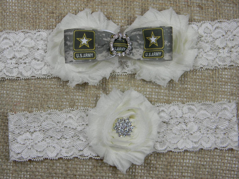 Army Wedding Garter U.S. Army Camo Bridal By