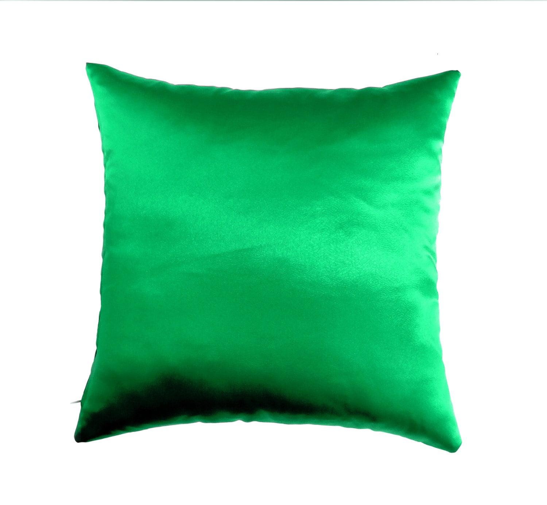 Green Pillow Covers Satin Throw Pillow Pillow Decorative