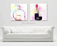 Items similar to Large Canvas Print Wall Art, Fashion ...