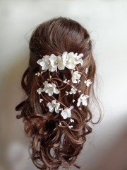 bridal hair vine clip wedding