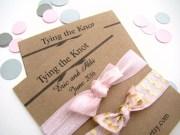 wedding favor foe hair ties bridal