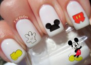 88 's mickey mouse nail decals