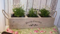 Herb Planter wooden planter window box herb garden herbs
