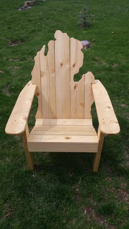 Michigan Adirondack Chair white pine