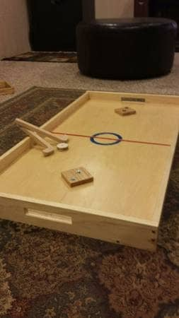Wooden Vintage Knock Hockey Table Fathers Dad Yard Classic