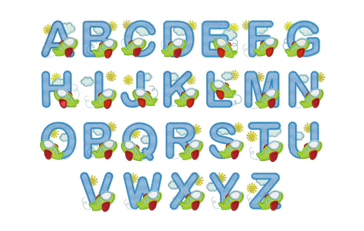 Coupon Codes Airplane Alphabet For Boys And Girls Applique