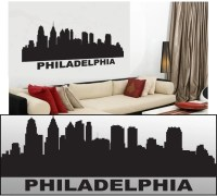 Wall Decal Sticker Philadelphia Skyline 22 Tall 58
