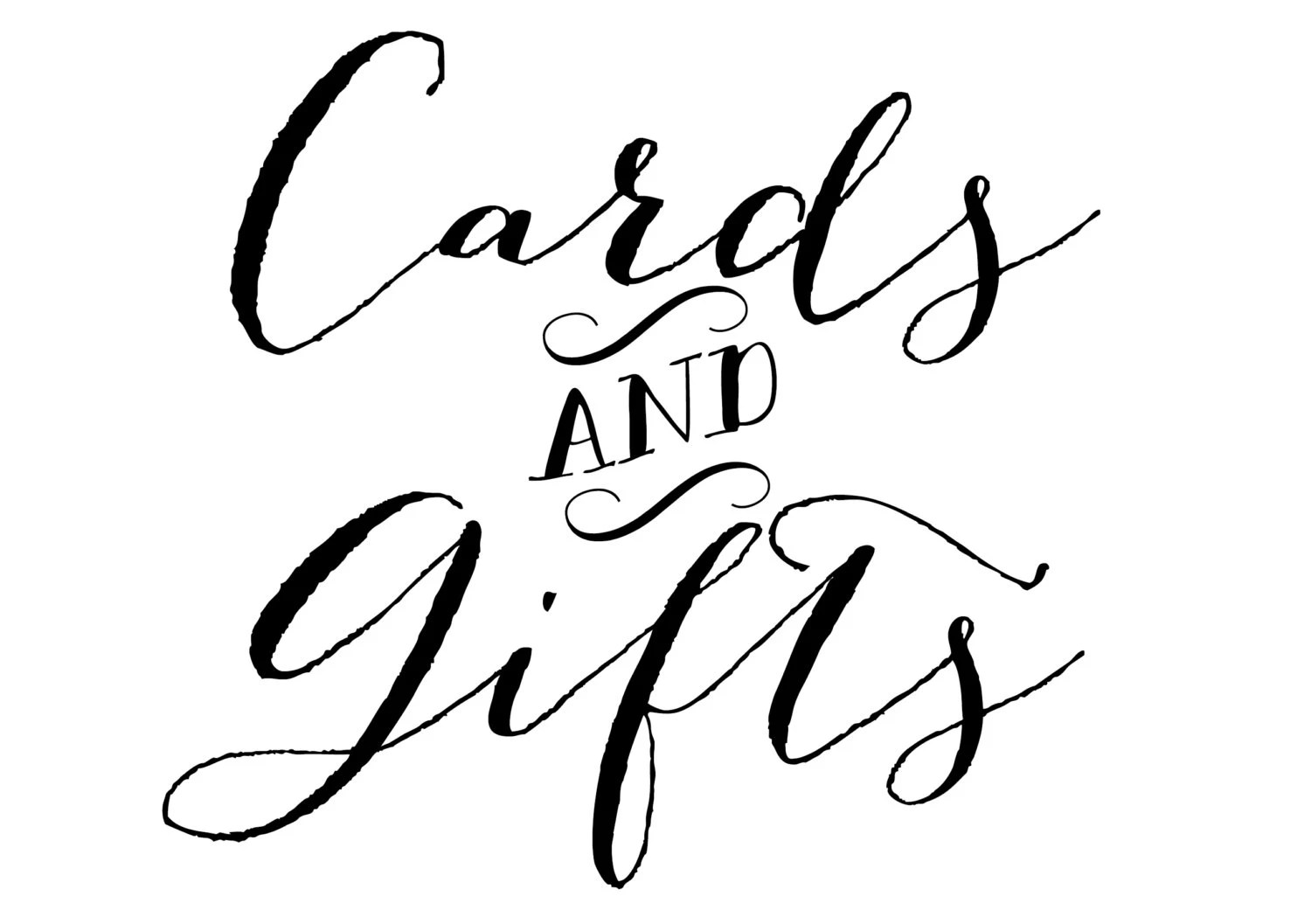 Printable Cards and Gifts Sign Cards and Gifts Sign Wedding