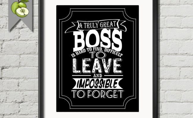 Boss Appreciation Gift A Truly Great Boss Is Hard To Find And