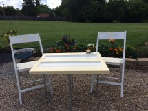 Shabby Chic Bistro Table Set With Matching Chairs Repurposed