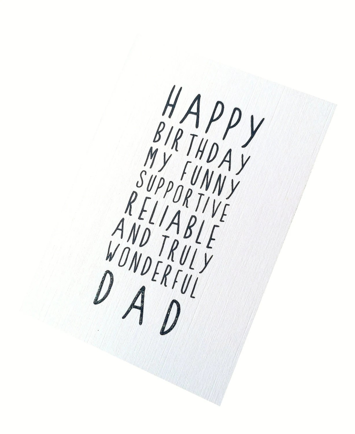Sweet Description Happy Birthday Dad Card by