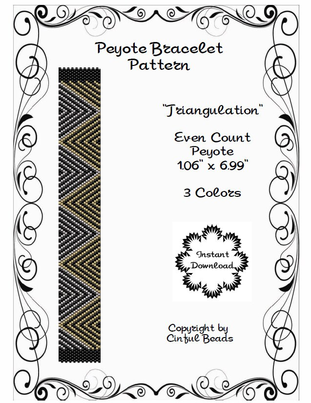 PEYOTE CUFF PATTERN Peyote Bracelet Miyuki Delicas