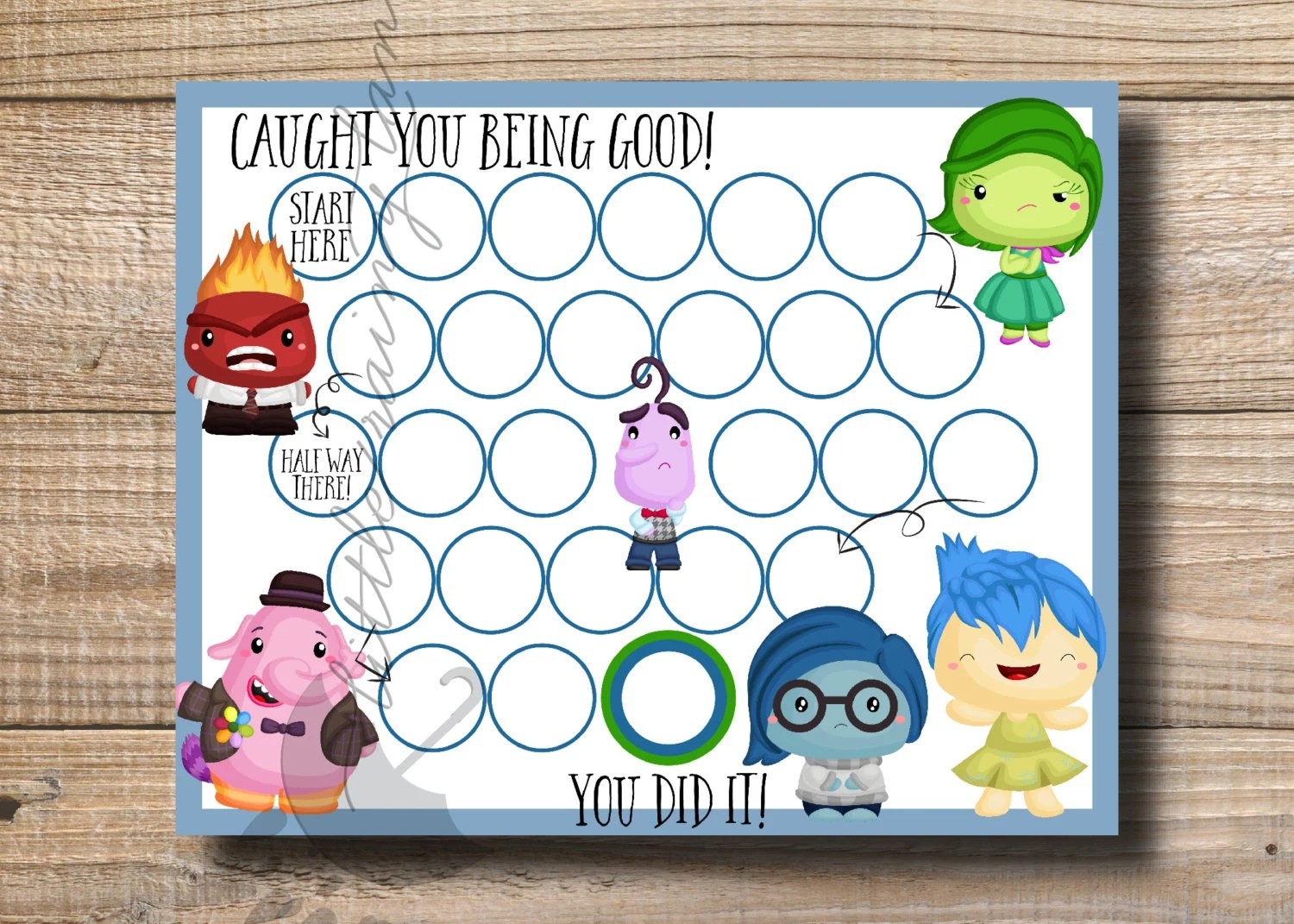 Kids Reward Chart Inside Out Reward Chart Printable