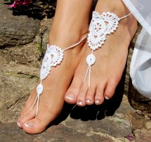 Beach Wedding Shoescrochet Barefoot Sandals