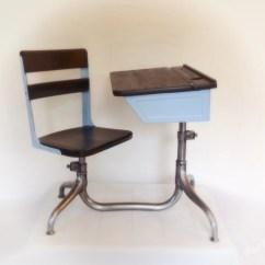 Vintage School Desk Chair Combo Portable Makeup For Sale Children 39s
