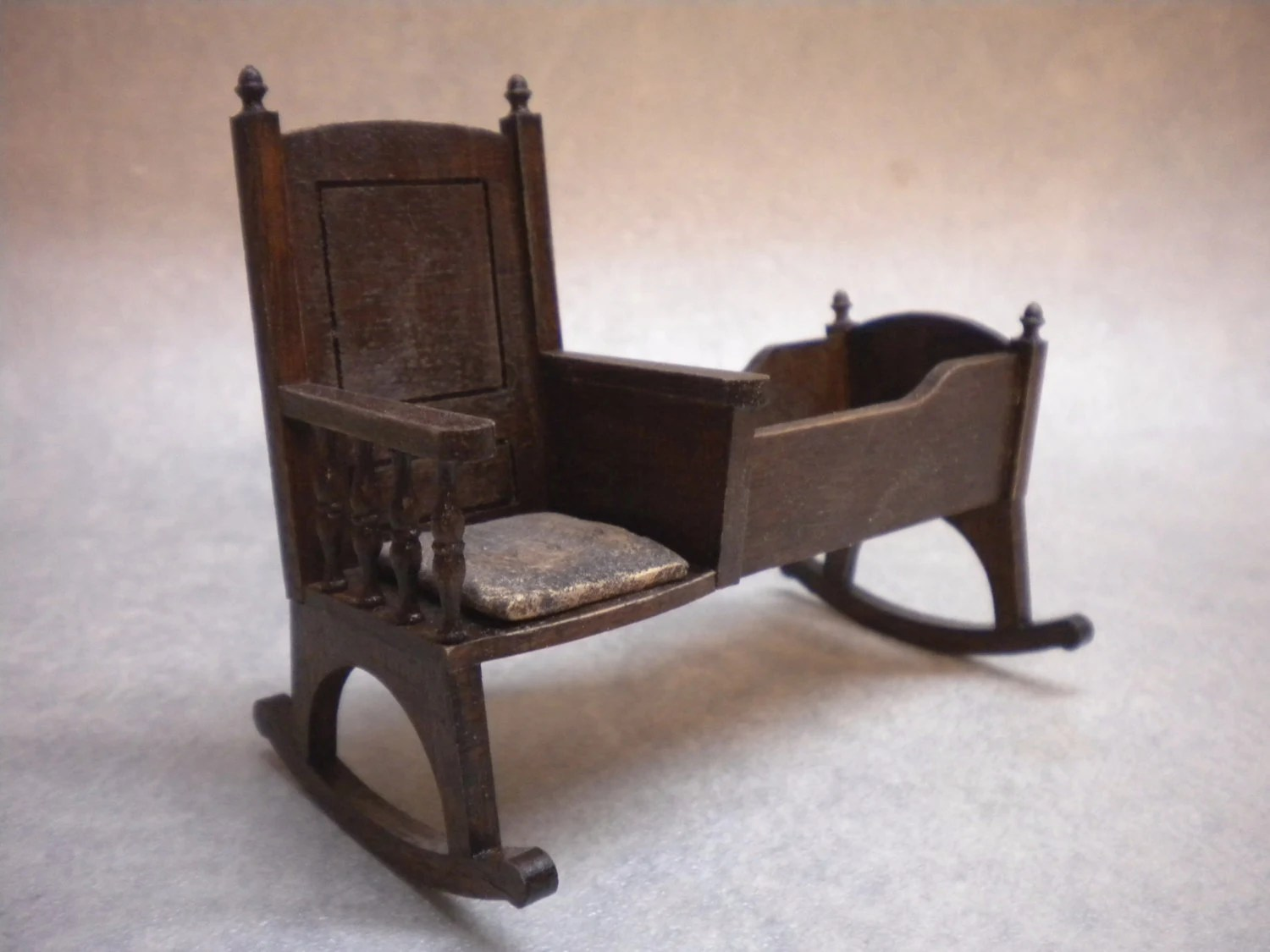 rocking chair cradle cover rentals trinidad one inch doll house nursery crib cot historic