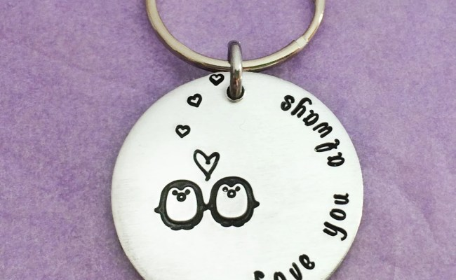 Gift For Boyfriend Penguin Keyring Penguin By Purplebjewellery