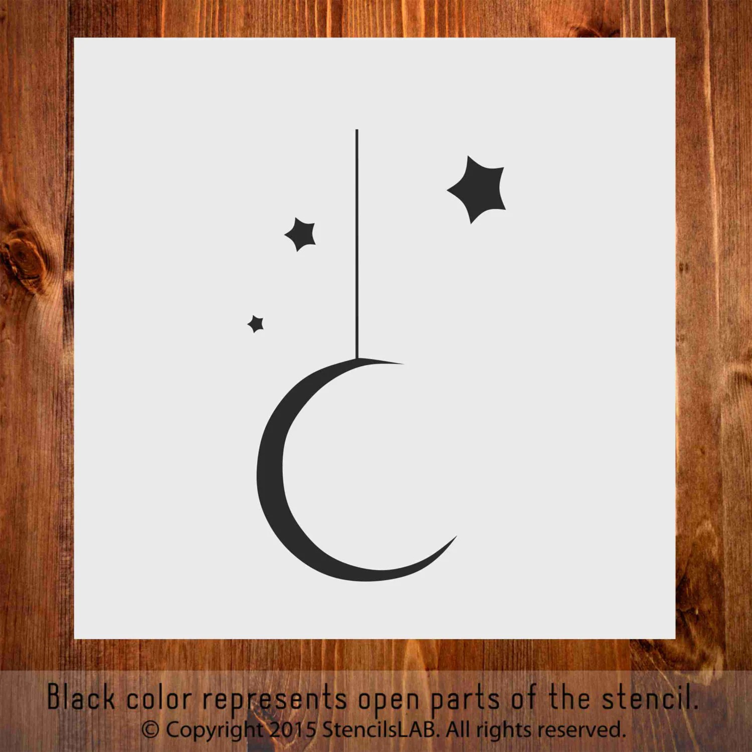 Moon And Stars Small Stencil For Diy Projects 11 X