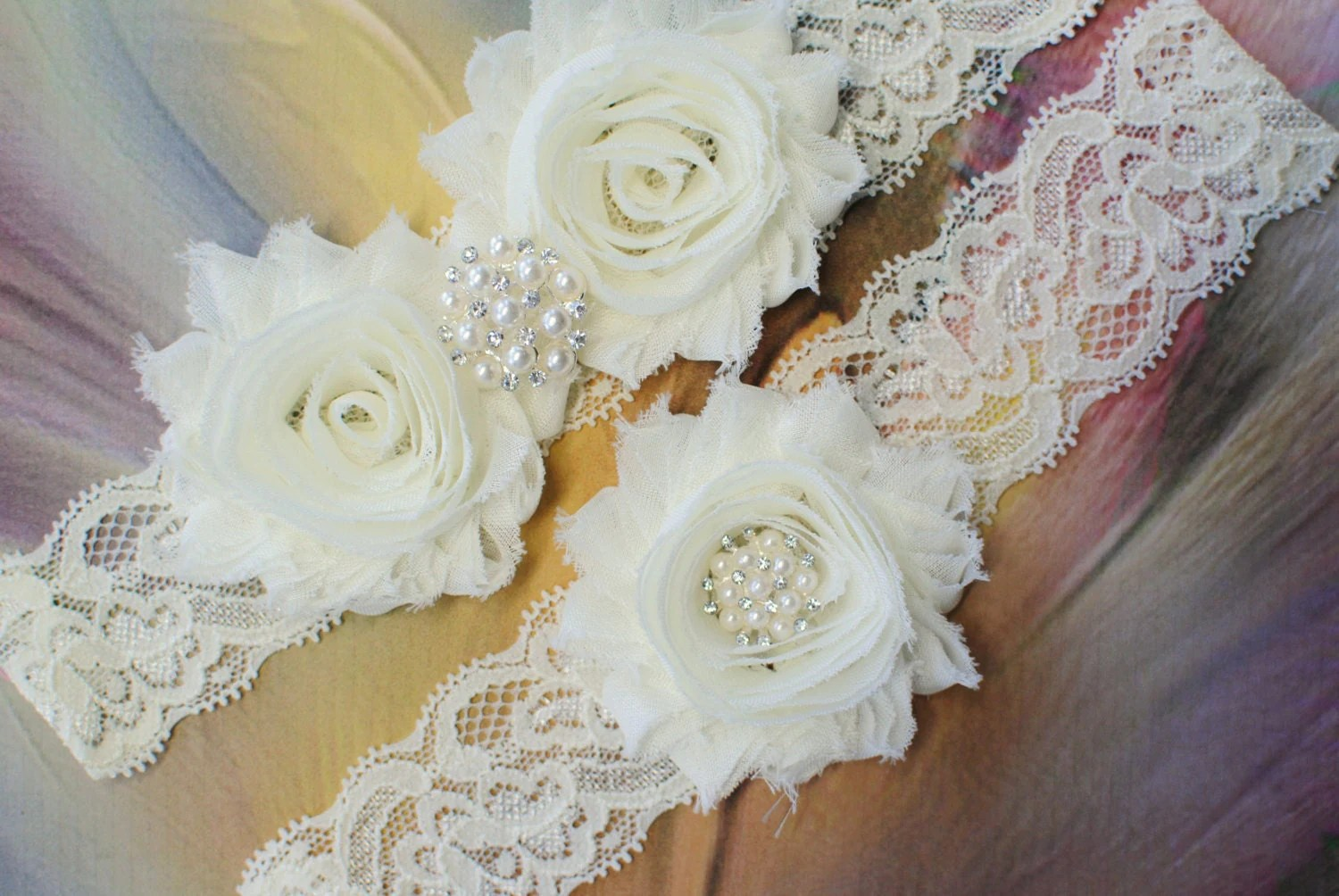 Ivory Garter Bridal Garter Wedding Garter By