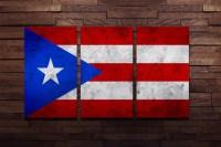 Puerto Rican Flag Poster Wall Art
