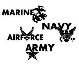 Items similar to Military Branch Vinyl Car Decals/Stickers