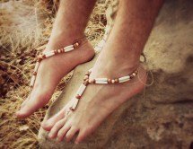 Beach Wedding Barefoot Sandals for Men