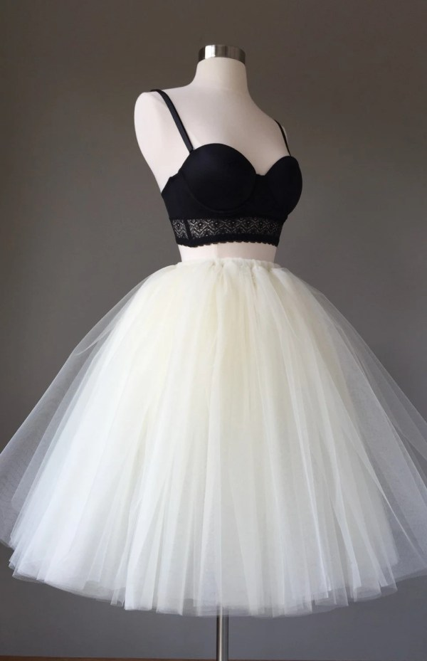 Light Ivory Tulle Skirt Adult Tutu 8 Layer
