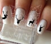 deer nail art water decals