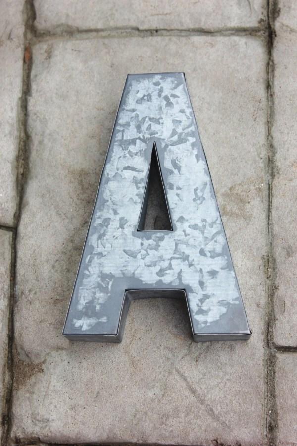Large Metal Letter Zinc Steel Initial Home Room Decor Diy