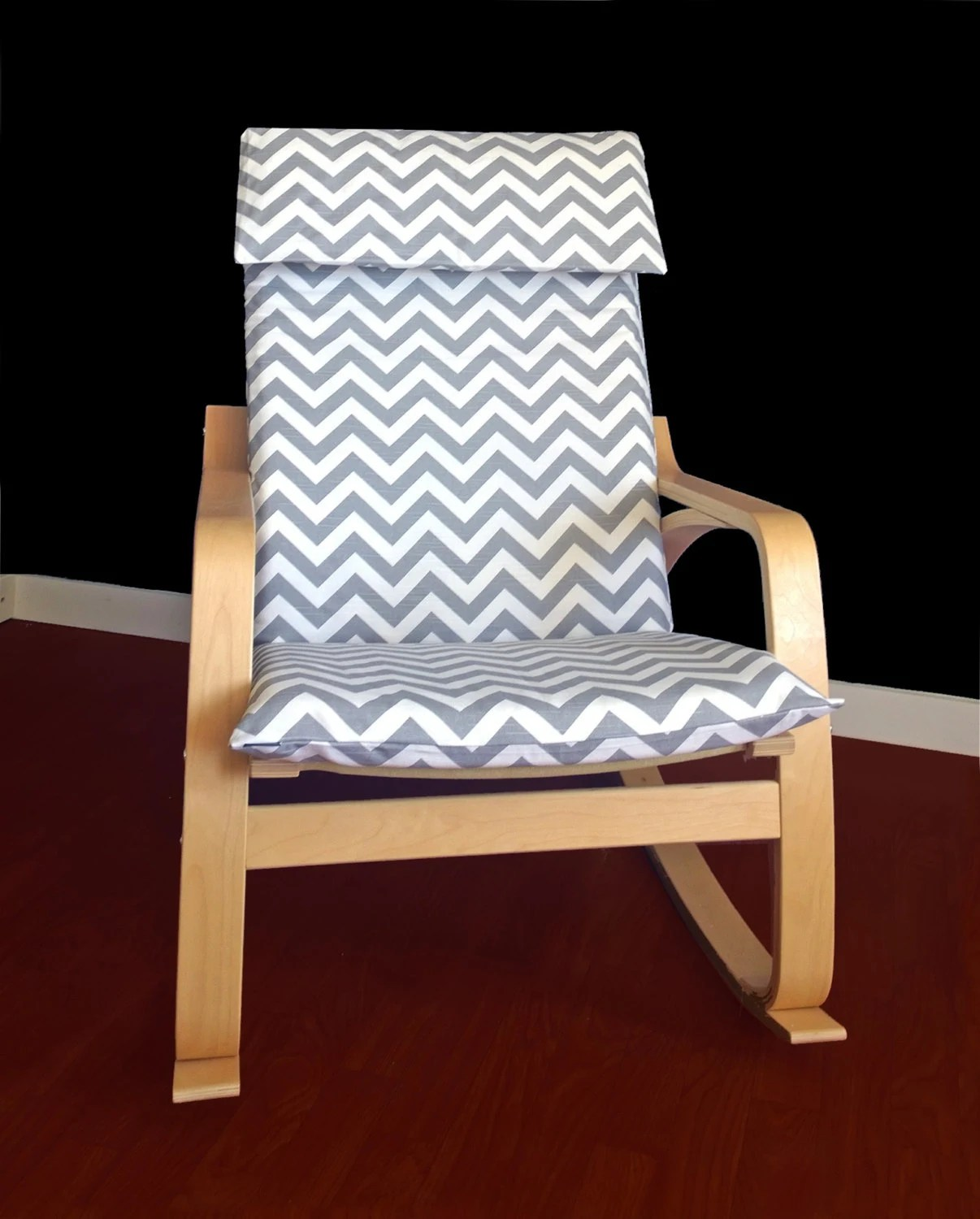 poang chair covers gel cushion for office as seen on tv ikea poÄng slipcover grey chevron