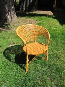 Vintage Bentwood Rattan And Wicker Chair Mid Century Modern