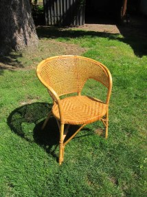 Vintage Bentwood Rattan And Wicker Chair Mid Century