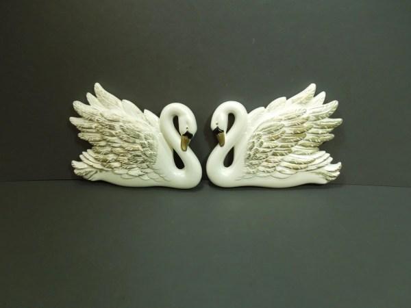 Swan Wall Decor Vintage Art Bird Mid