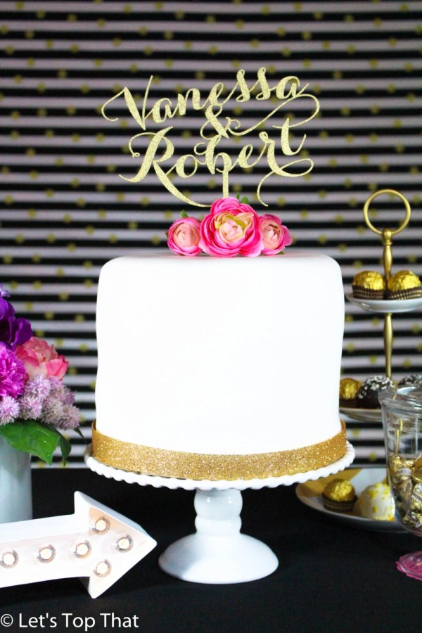Custom Cake Topper Wedding Personalized