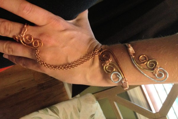 Slave Bracelet And Attached Ring