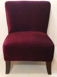 Slipcover Cranberry Velvet Stretch Chair by ...