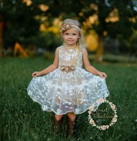 Girls dress lace flower girl dress girls dress girls lace