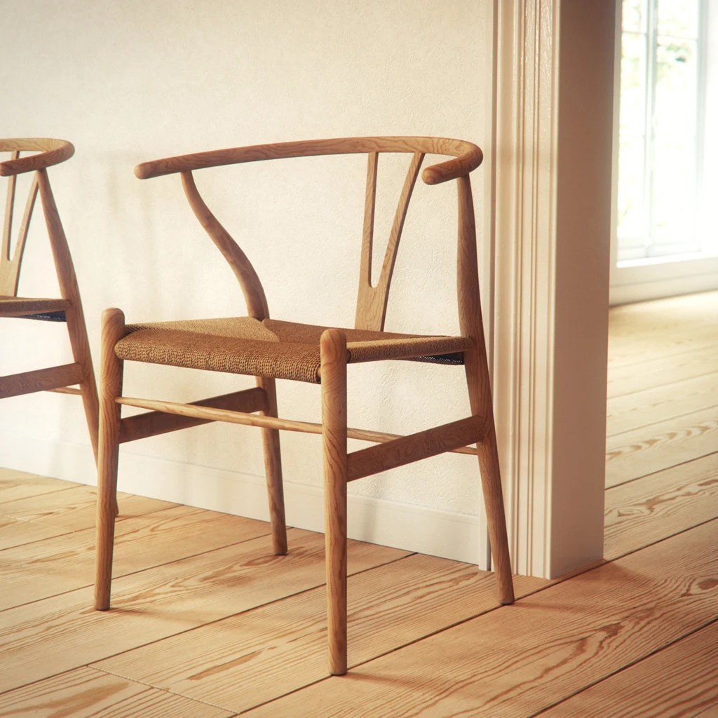 wishbone chairs modern game table and chair hans wegner oak wood by manuwoodencollection