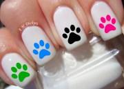 paw print nail decal